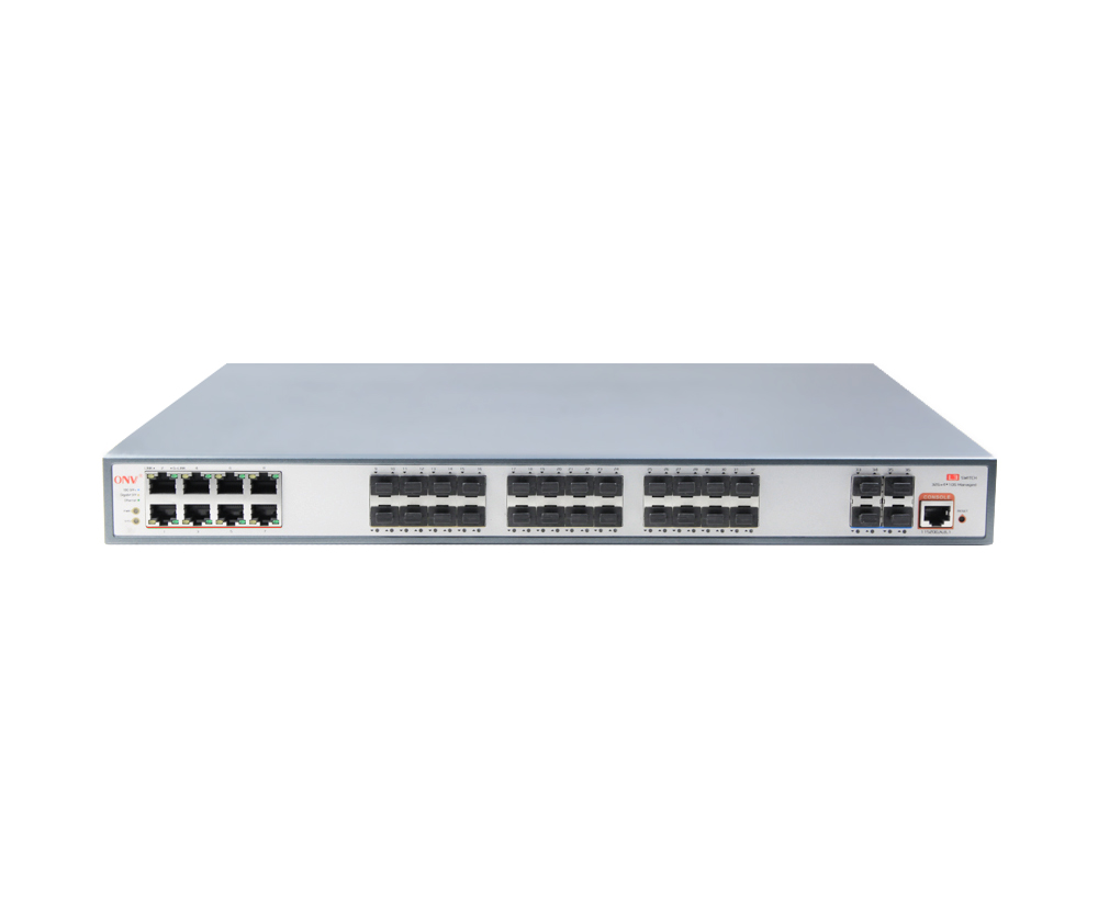 10G uplink 36-port L3 managed PoE switch
