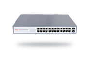 Full gigabit 26-port unmanaged PoE switch