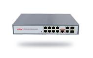 Full gigabit 12-port managed PoE switch