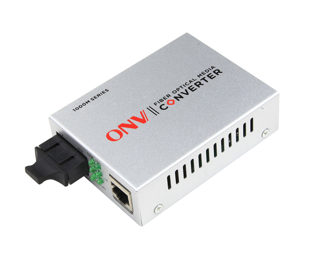 Gigabit 2-port single-mode dual fiber media converter