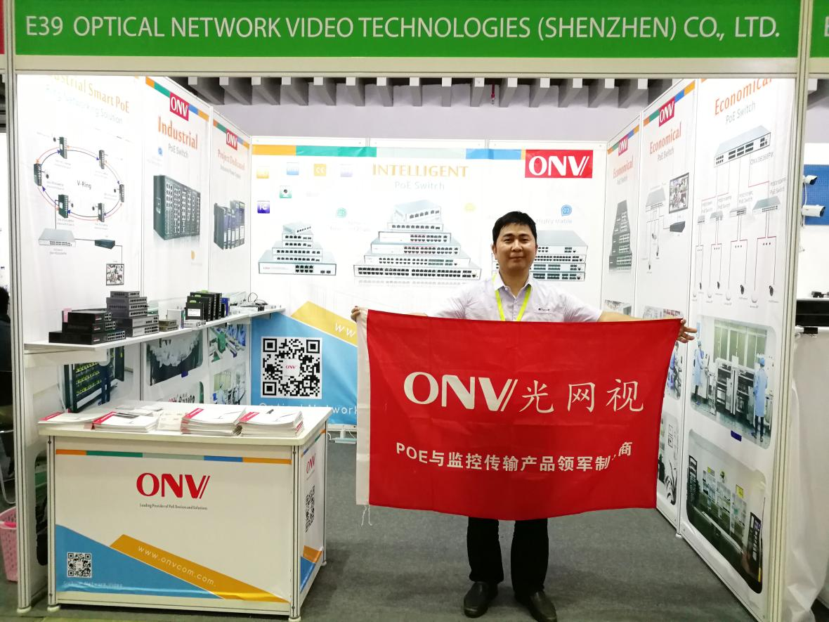 [ONV PoE switch brand] was showcased latest industrial PoE switch at Secutech Vietnam 2019!