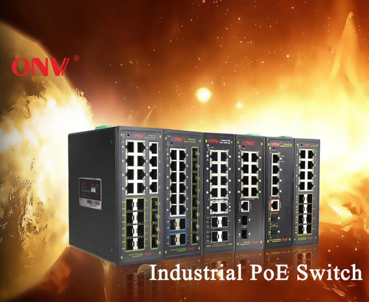 Why choose ONV managed industrial POE switch?