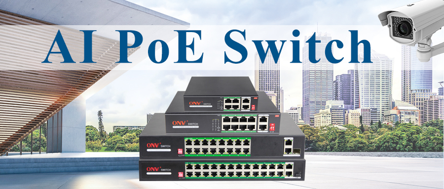 One key to open AI PoE switch intelligent monitoring mode