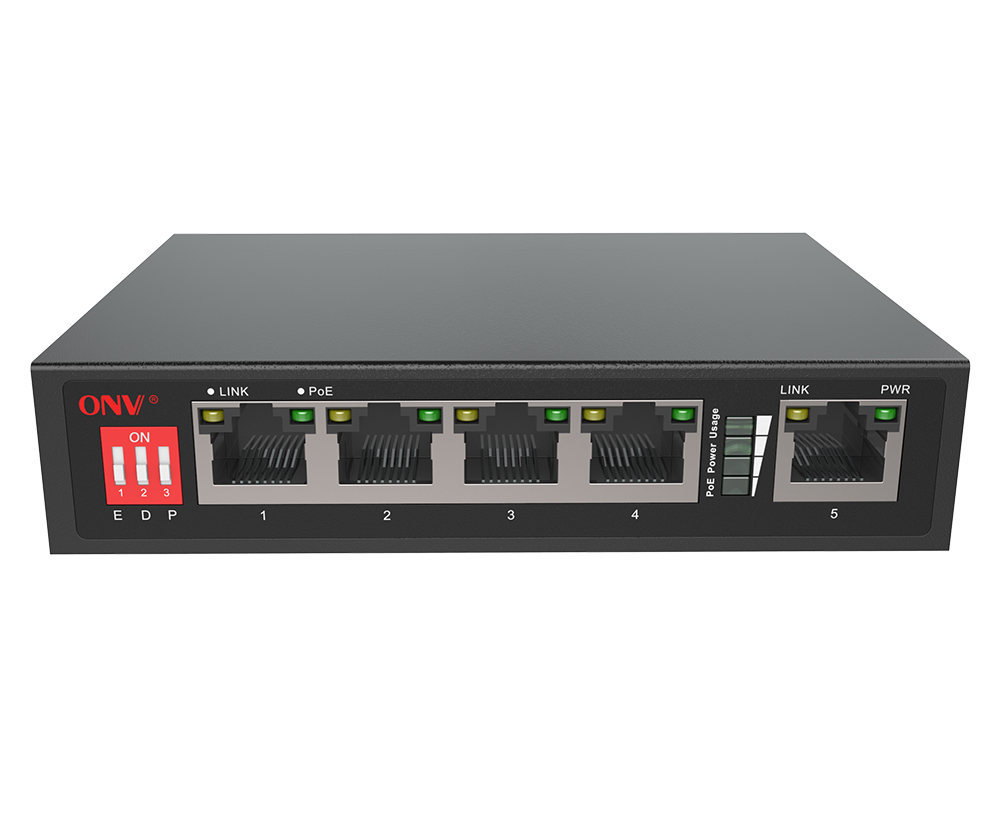 10/100M 5-port AI PoE switch